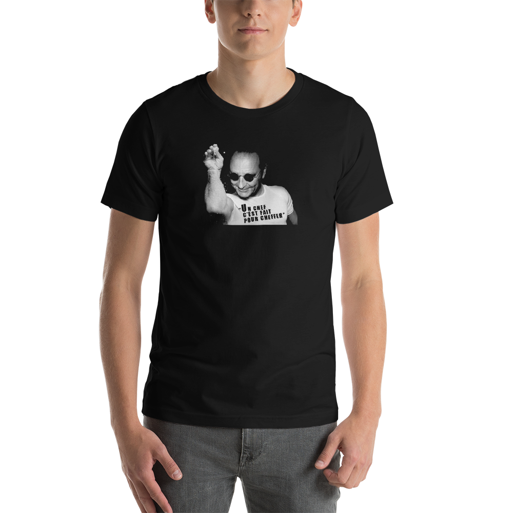 "T-shirt ""Jacques Chirac Cheffer"" Homme col rond"