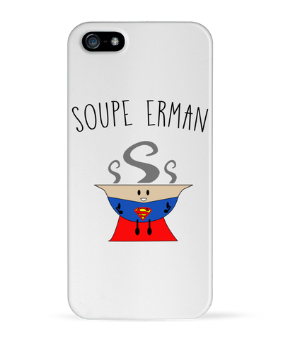 "Coque Iphone ""Soupe Erman""-Passion Bouffe"