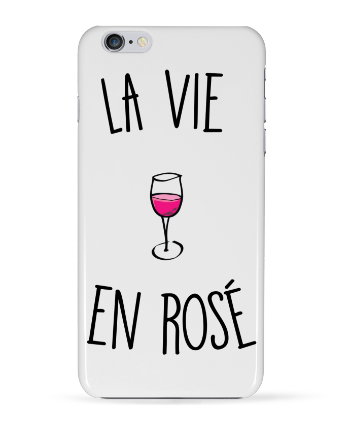 "Coque Iphone ""La vie en rosé"""