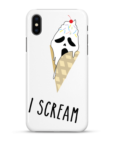 "Coque Iphone ""I scream""-Passion Bouffe"