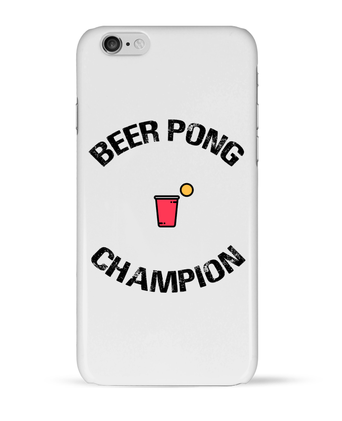 "Coque 3D Iphone ""Beer Pong Champion"""