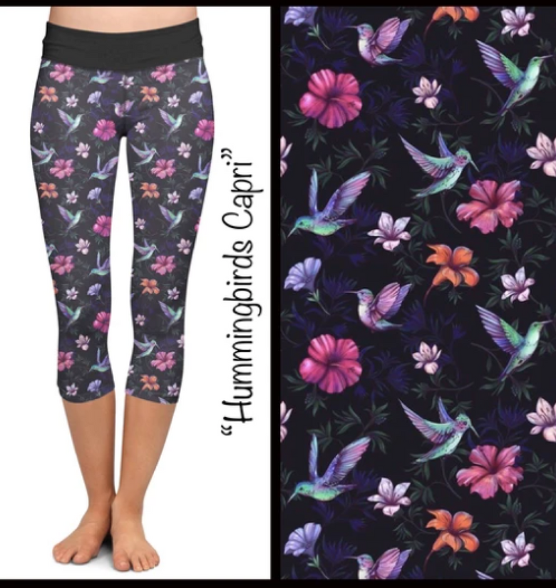 Hummingbird Capri Leggings