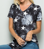 Black & White Stars Short Sleeve