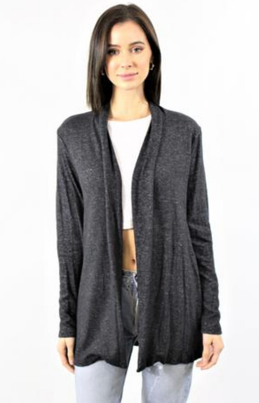 Cardigan Solid Open Front