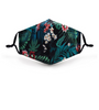 tropical flowers Facecover