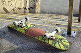 Green & Yellow Leaf Skateboard | Refresh Board Shop