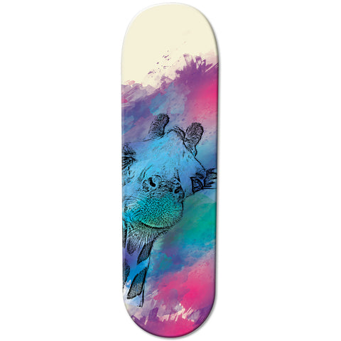 Querky Giraffe Face Skateboard | Refresh Board Shop