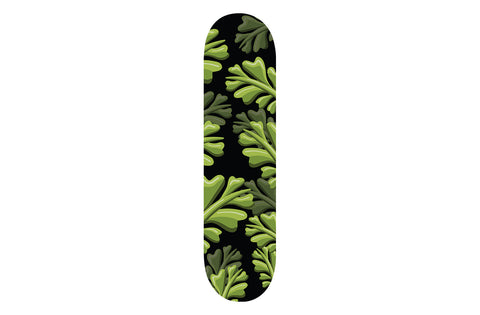 Green Leaf Patterned Skateboard | Refresh Board Shop