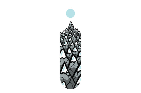 White Mountain Pattern Skateboard | Refresh Board Shop