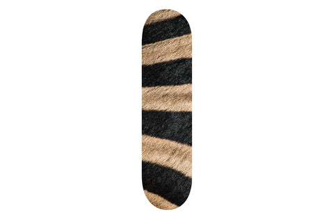 Large Zebra Print Skateboard | Refresh Board Shop