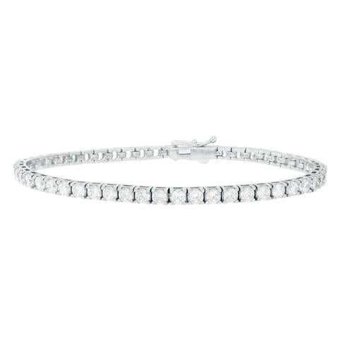 CZ Sterling Silver Tennis Bracelet 3.5CT