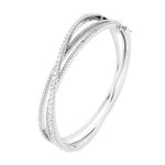 CZ Sterling Silver Bangle