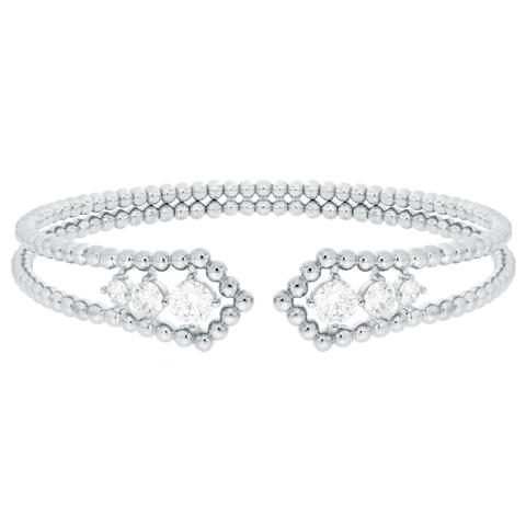 CZ Sterling Silver Slip-On Bracelet
