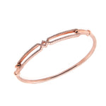 CZ Sterling Silver Top Close Bangle