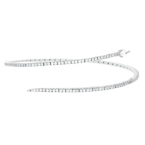 CZ Sterling Silver Flexible Bracelet
