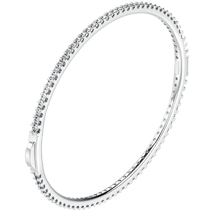 CZ Sterling Silver Tennis Bangle