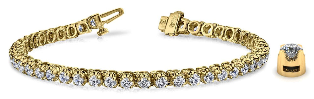 Gold Diamond Classic Tennis Bracelet    B128