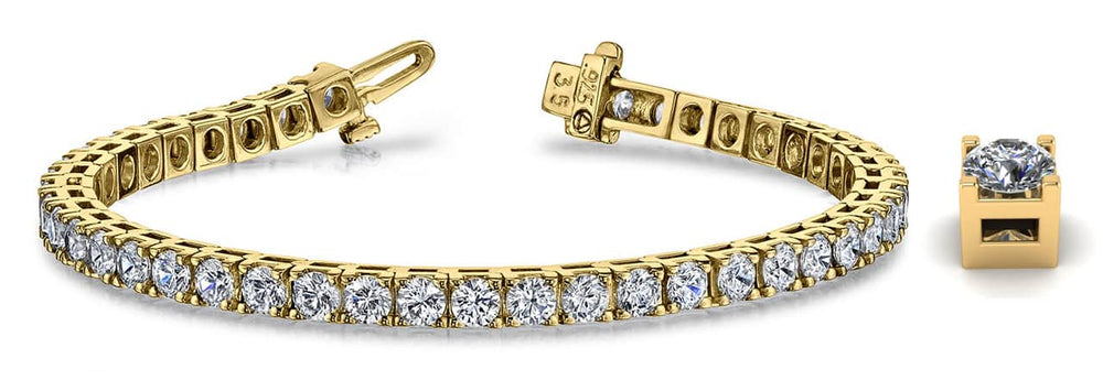 Gold Diamond Classic Tennis Bracelet    B131