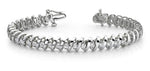 "Gold Diamond ""S"" Link Tennis Bracelet     B322-A"