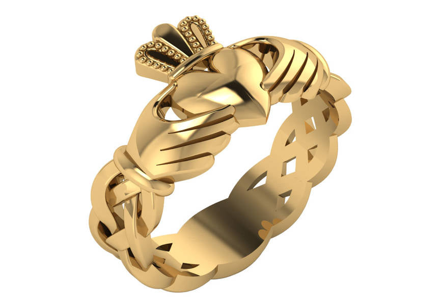 Gold Celtic Claddagh Rings