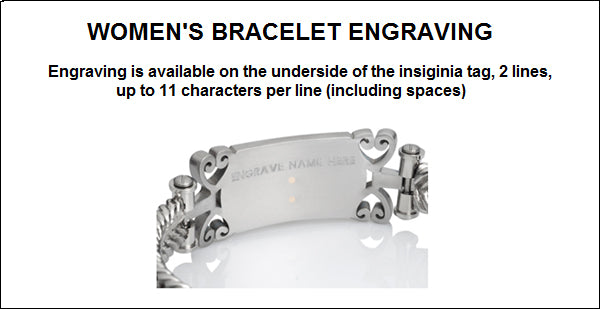 Women's Coast Guard Bracelet - Embossed