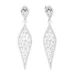 CZ Sterling Silver Fashion Earrings