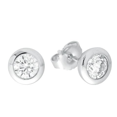 CZ Sterling Silver 1.00 CTW Studs