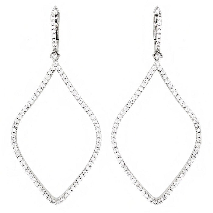 CZ Sterling Silver Freeform Earrings