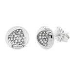 CZ Sterling Silver Cluster Studs