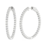 CZ Sterling Silver 2.00 CTW Inside/Out Hoops