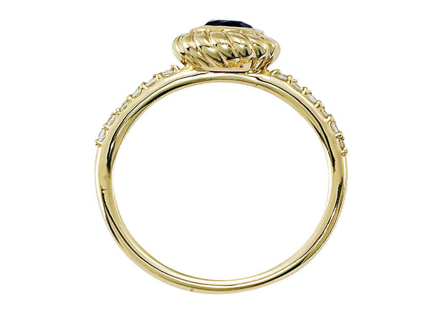 Gold and Diamond Designer Ring