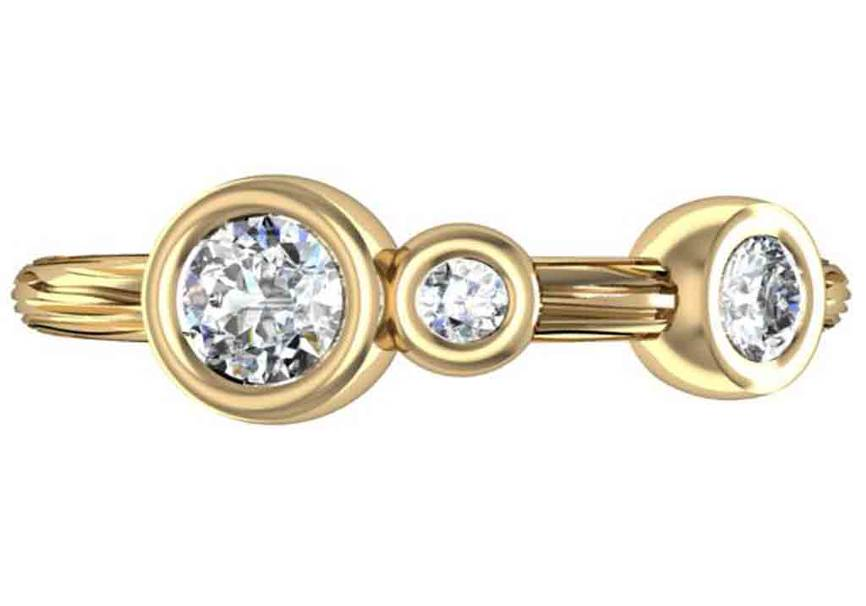 Gold, Diamond and Gemstone Designer Ring