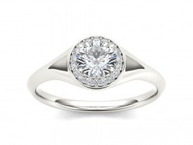Gold Diamond .10 CTW Vintage Style Engagement Mounting