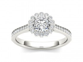 Gold Diamond .40 CTW Vintage Style Engagement Mounting