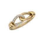 Gold Diamond .11 CTW Knot Fashion Ring