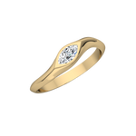 Gold Diamond Marquis Stack Ring