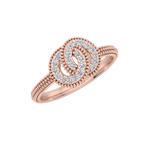 Gold Diamond .25 CTW Circle Fashion Ring