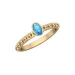 Gold Gemstone Oval Fashion Ring