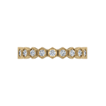 Gold Diamond .33 CTW Stack Ring