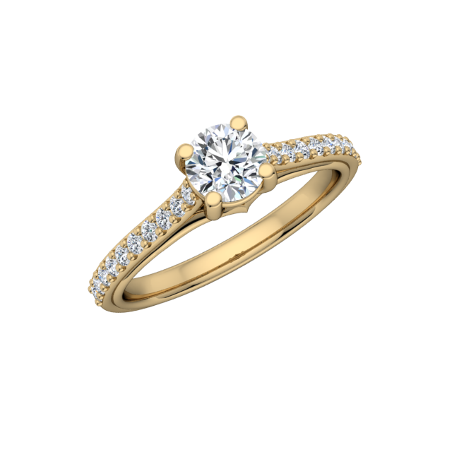 Gold Diamond .30 CTW Engagement Mounting