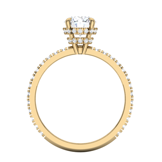 Gold Diamond .55 CTW Engagement Mounting