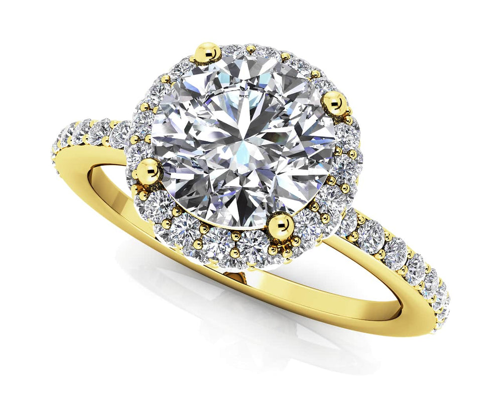 Gold Diamond .50 CTW Engagement Mounting MS204-A