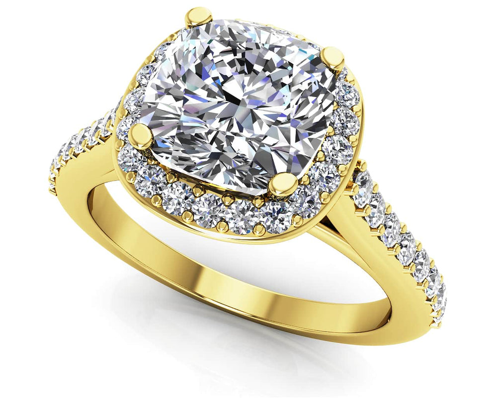 Gold Diamond .50 CTW Halo Engagement Mounting  MS235-A