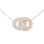 CZ Sterling Silver Circle Necklace