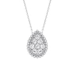 CZ Sterling Silver Teardrop Cluster Necklace