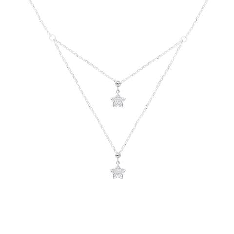 CZ Sterling Silver Star Necklace