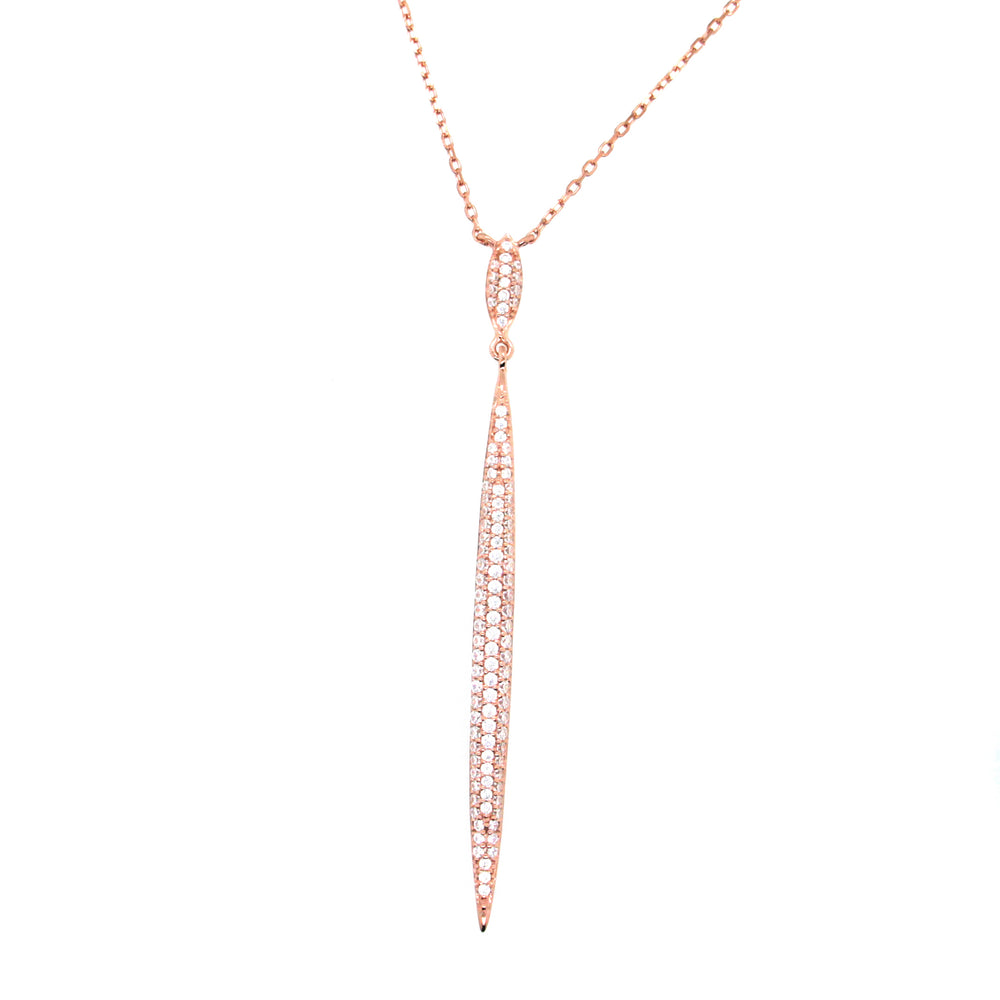 CZ Sterling Silver Linear Necklace