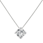 CZ Sterling Silver Ascher Solitaire Necklace