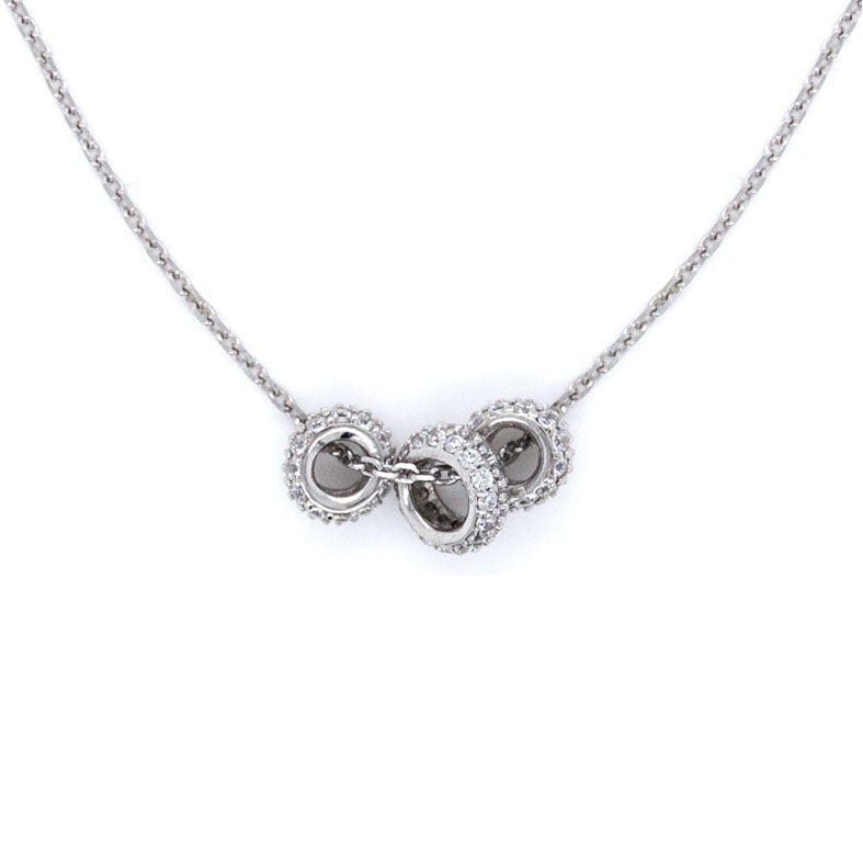 CZ Sterling Silver Fashion Necklace