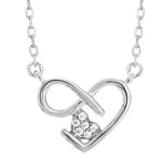 CZ Sterling Silver Heart Necklace
